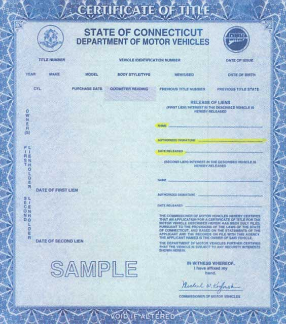 Connecticut motor vehicle registration for Florida motor vehicle title search