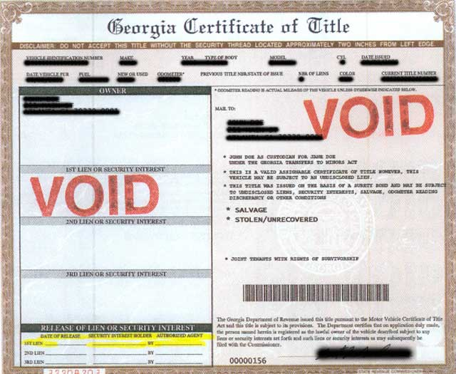 State of georgia department of motor vehicles for Georgia motor vehicle title search