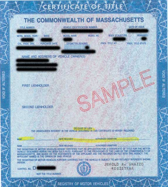 Title Information for Vehicle Donation in Massachusetts | Cars for ...