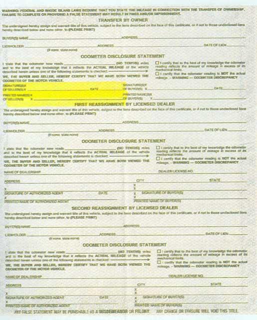 Rhode Island Dmv Forms Registration
