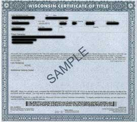 How To Get A Replacement Title For Car In Wisconsin
