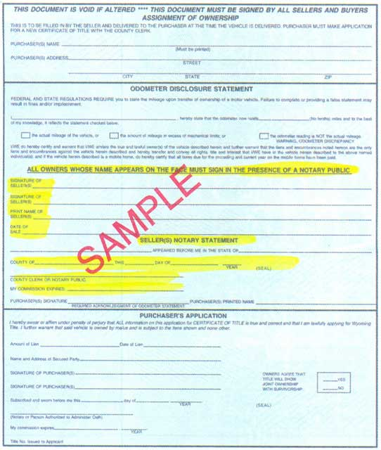 Title Information For Vehicle Donation In Wyoming Cars For