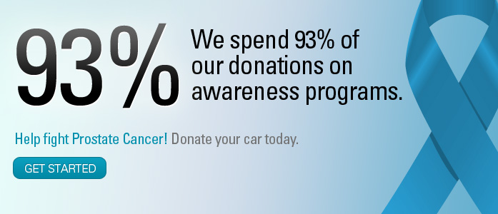 93% goes to help fight prostate cancer