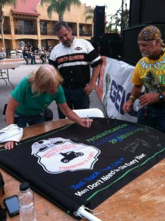 Sign the Prostate Cancer Pony Express Flag